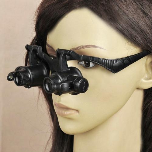 Loepbril met Dubbele Horlogemakersloep | Juweliersloep | Loepenshop.com